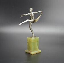 Lorenzl Art Deco  Bronze Scarf Dancer Circa 1925