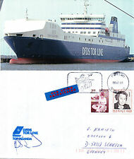 SWEDEN FERRY TOR SELANDIA A SHIPS CACHED SIGNED COVER & MAGAZINE PICTURE
