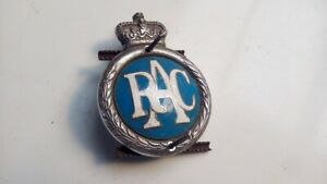 Vintage RAC Royal Automobile Club CAR bumper BADGE RAC MASCOT               10