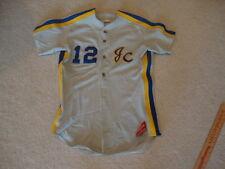 vintage Rawlings Brand JC High School Junior College Sewn Baseball Jersey 42 M