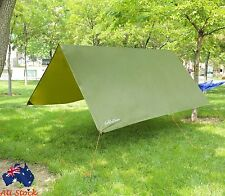 10x10ft Rain Tarp Shelter for Canopy Hammock Outdoor Camping Ripstop Rain Fly
