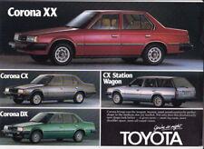 Three 1985-86 TOYOTA CORONA ST141 New Zealand Brochures 2p Sheets