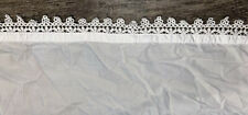 Pottery Barn PB Teen Lace Trim Queen Top And Fitted Sheet Set White