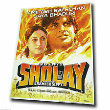 Sholay 1975 Bollywood Movie Film Advert Metal Sign Wall Plaque art print poster