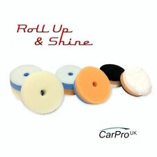 Carpro Nano Machine Polishing Pads 50mm 6 Pack - Microfiber + Gloss DA or Rotary