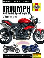 TRIUMPH SHOP MANUAL SERVICE REPAIR HAYNES 1050 SPRINT SPEED TRIPLE TIGER ST BOOK