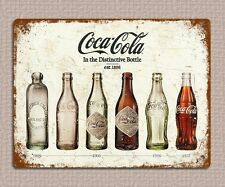 metal sign plaque vintage retro style Coke bottles poster image 20 x 15cm