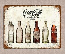 metal sign plaque vintage retro style Coke bottles poster image 20 x 15cm