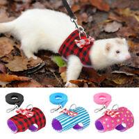 Pet Hamster Rabbit Guinea Pig Rat Ferret Cat Puppy Breathable Harness Leash Lead