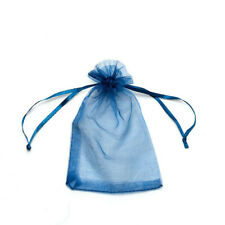 20pcs Navy Blue Drawstring Organza Bags Packaging Wedding Party Gift 7x9cm