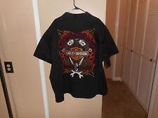 Men's Harley Davidson Black Embroidered Button Front Garage Shop Shirt XXXL