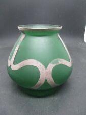 Art Deco Green Glass Cabinet Vase