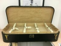 beautiful very unusual  huge louis vuitton motoring trunk curved front with tray