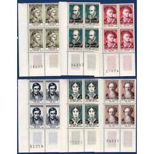 No__1108 A 1113 CELEBRITES XIIIe AU XIXe SIECLE, BLOCS DE 4 TIMBRES NEUFS** 1957
