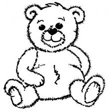 Sm Archie Bear Unmounted Rubber Stamp - SA-7186