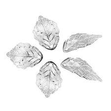 30 Vintage Silver Metal Leaf Pendant Bead Fashion Hot AD