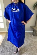 Vibrant Blue Silky Hairstyling Cape