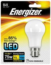 Energizer LED Non-Dimmable Opal GLS Bulb 11.6W (75W) BS E27 - Warm White