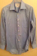 CHARLES TYRWHITT 16.5 35 Non Iron Blue Long Sleeve Button Dress Shirt 42/89