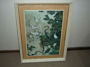 VINTAGE 1950s ERA OIL PAINTING ON BOARD BY CAROL G ALLEN-ANKINS & TITLED ON BACK