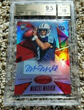 2015 Certified Marcus Mariota MIRROR RED RC AUTO /15 BGS 9.5 GEM MINT AUTOGRAPH