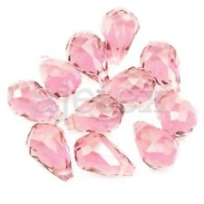 10PCS Crystal Beads Teardrop Uncoated Drop Top Drilled Pandents 12x8mm