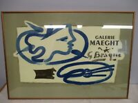 """FRAMED SIGNED GEORGES BRAQUE """"GALERIE MAEGHT"""" LITHOGRAPH"""