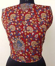 Pure Cotton Kalamkari Printed Unstitched Blouse Fabric