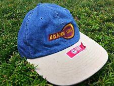 Vintage Arizona State University Strapback Denim Dad Hat New with Stickers OSFM