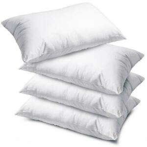4 x Luxury Deluxe Pillows Hollow Fibre Filled Soft Quality Pillow - Made in UK