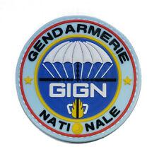 Ecusson Patch GIGN Gendarmerie Nationale Bleu en PVC et Scratch 8 cm