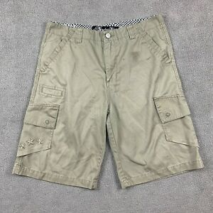 Anchor Blue Men's Cargo Shorts Size 34 Beige Embroidered Stars Cotton