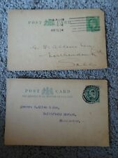 GB 2 Kings Postcards/Lettercards - pre printed stamps - postal history (P451)