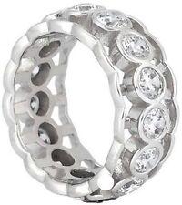 2.41 carat Round Diamond Eternity Ring 14k Gold Wedding Band F Vs 16 x .15 sz 7