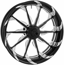 Xtreme Machine - 1500-7103R-XLA-BM - Launch Single Disc Front Wheel~12-17 FXDB