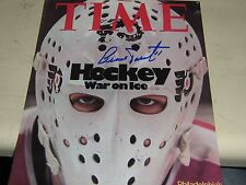 AUTO BERNIE PARENT TIME COVER GLOSSY 8X10 RARE PHILLY FLYERS
