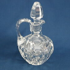 Vintage Elegant Crystal Handled Decanter Pitcher with Stopper ~ Brandy Wiskey