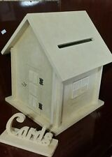 WEDDING WISHING WELL BOX HANDCRAFTED RAW MDF. Wedding cards keeper