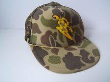 Da Hui Camo Hat Camouflage Snapback Rope Trucker Cap