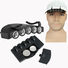 Clip-On 5 LED Head Cap Hat Light Head Lamp Torch Hunting Camping Fishing Outdoor