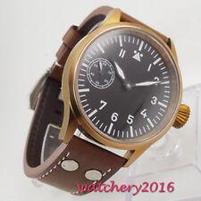 44mm Sterile dial Bronze Plated Saphirglas 6497 Handaufzug movement men's Watch