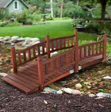 Redwood Garden Bridge Arched Rails Creek 6 Foot Footbridge Kit Walkway Landscape