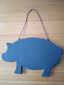PIG SHAPED SLATE CHALKBOARD