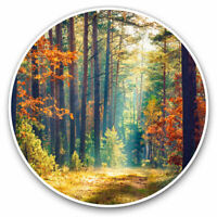 2 x Vinyl Stickers 10cm - Autumn Forest Trees Woods Cool Gift #14326