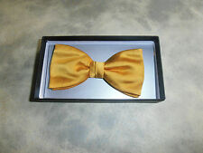"Gold Silk Adjustable Bow Tie 14-18"""