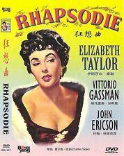 Rhapsodie All Region DVD Elizabeth Taylor, Vittorlo Gassman, John Ericson NEW UK