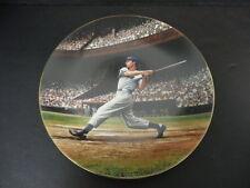 "Joe DiMaggio ""The Streak"" Commemorative Collectible Plate The Bradford Exchange"