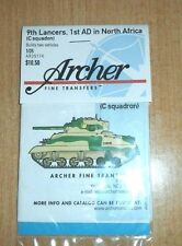 ARCHER FINE TRANSFERS 9TH LANCERS 1ST AD NORTH AFRICA C SQUAD AR35174 1:35 NEW