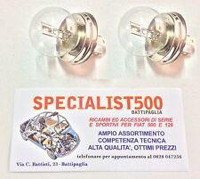 FIAT 500 F/L/R COPPIA LAMPADA ASIMMETRICA R2 LAMPADINA FANALE P45T 12 45/40 WATT