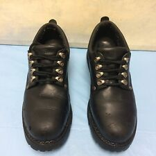 Terrain mens black leather safety shoes work formal steel toe cap US 12
